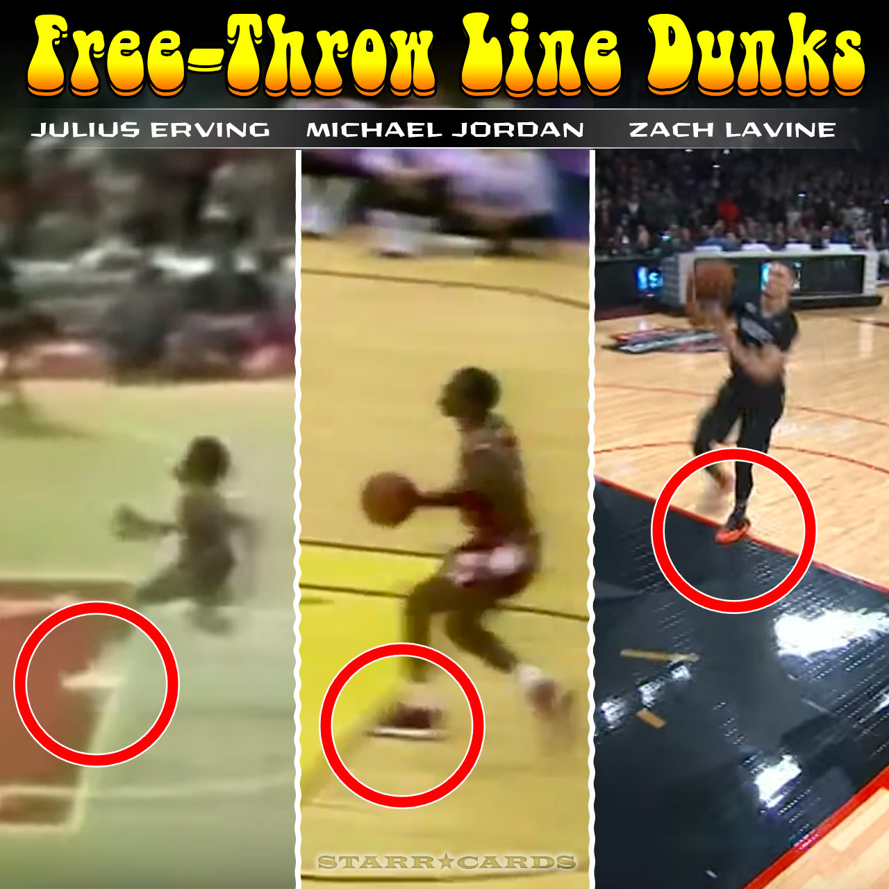 designer fashion 81624 3af62 Free-throw line dunks with Dr. J, Michael Jordan, Zach LaVine and more