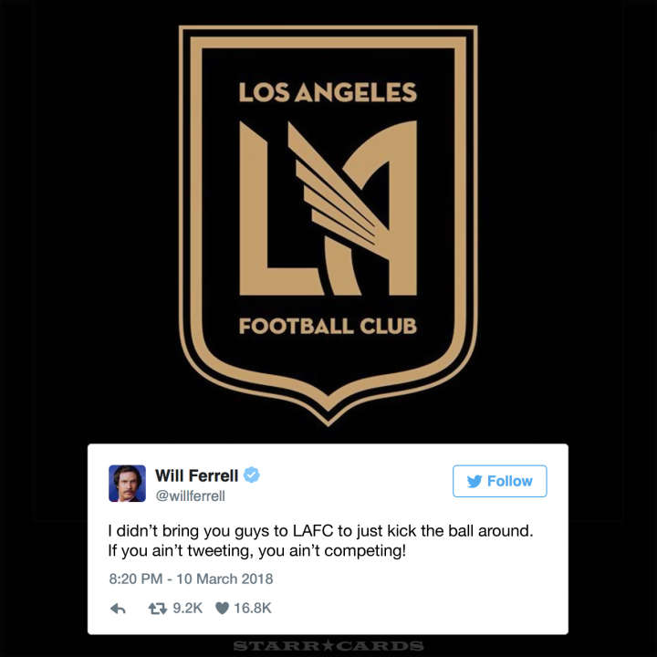 Future Will Ferrell tweets to LAFC players to tweet more