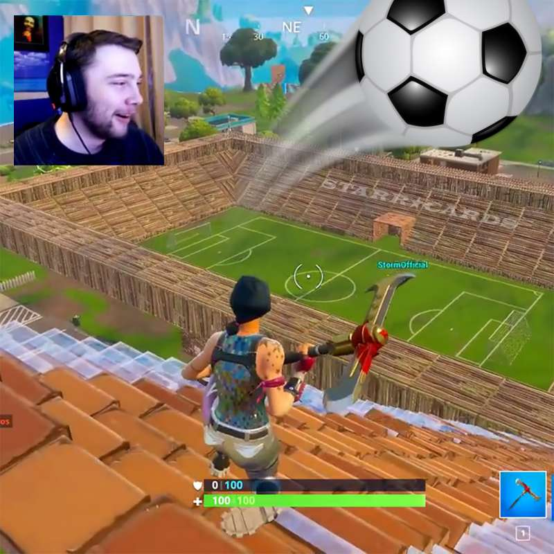 Gamer SXVXN builds epic football (soccer) stadium in Fortnite