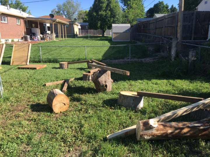 Gavin MacCall builds a Ninja Warrior obstacle course for his daughter: Balance beam