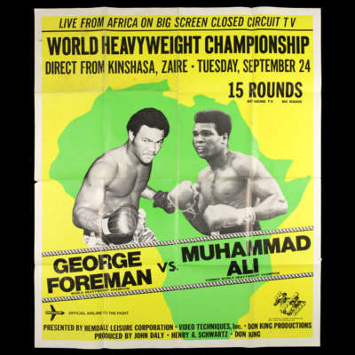 """George Foreman vs Muhammad Ali """"Rumble in the Jungle"""" poster"""
