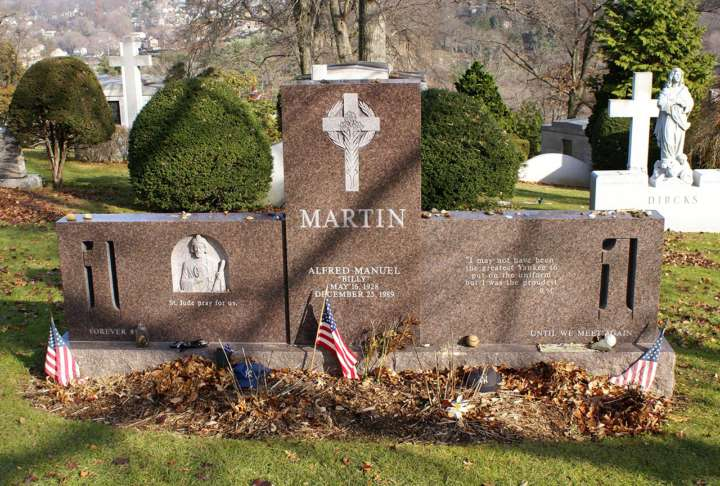 Grave sites of baseball's greatest players: Billy Martin tombstone
