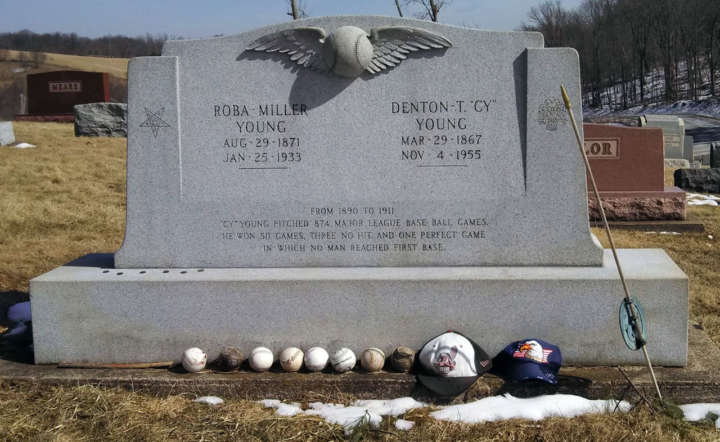 Grave sites of baseball's greatest players: Cy Young tombstone