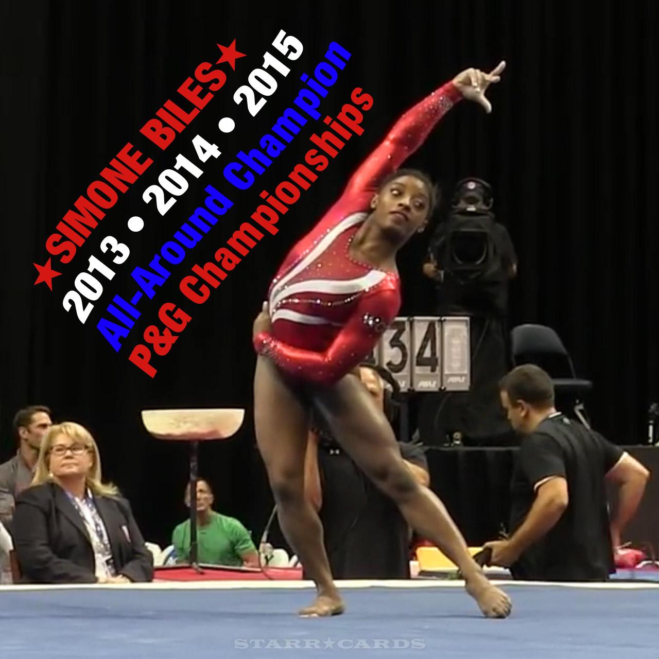 Gymnast Simone Biles three-peats as U.S. All-Around Champion