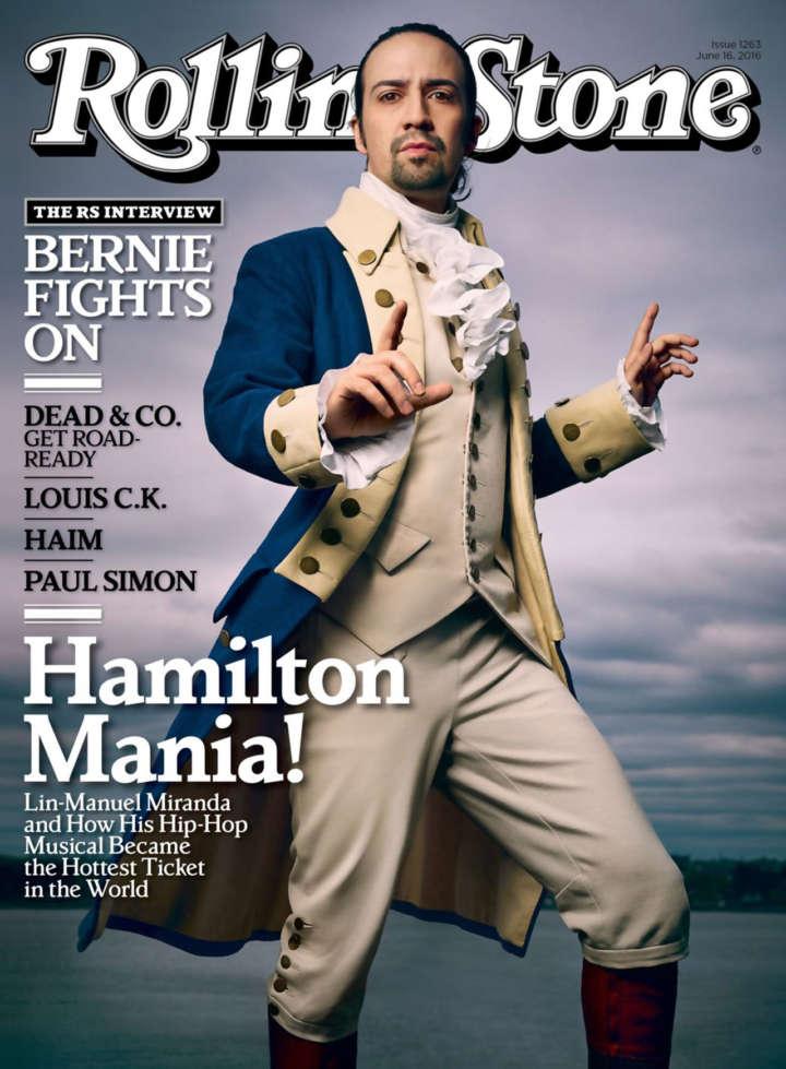 'Hamilton' Rolling Stone cover, June 16, 2016 with Lin-Manuel Miranda