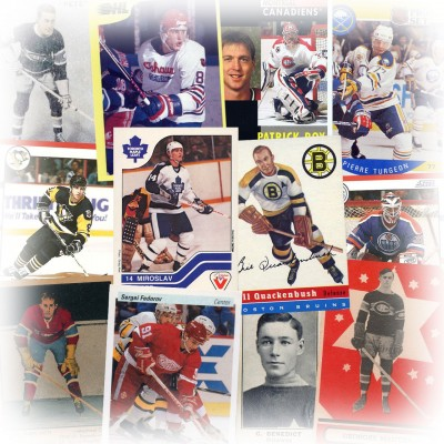 History of hockey cards