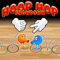 Hoop Hop Showdown combines Q*bert-like action with rock-paper-scissors