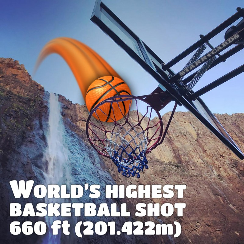 How Ridiculous nails the world's highest basketball shot at 660 ft (201.422m)