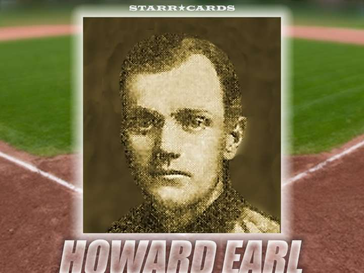 Howard Earl Chicago Colts baseball card