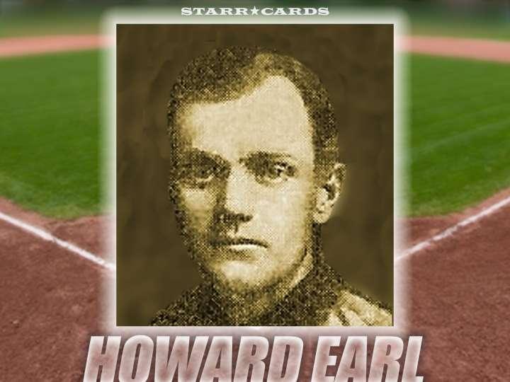 Howard Earl Chicago Colts baseball card