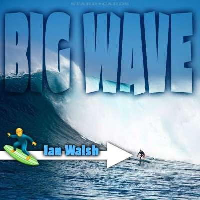 Ian Walsh surfs Mavericks off the coast of Santa Cruz, California