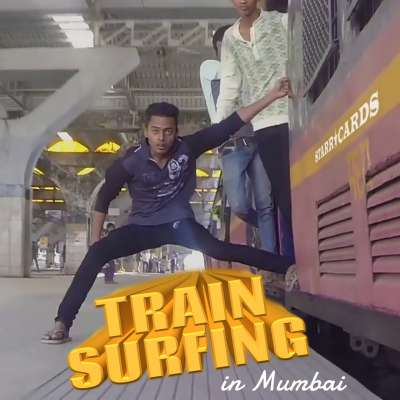 Indian thrill seekers go train surfing in Mumbai