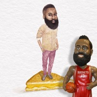 James Harden on grilled cheese sandwich