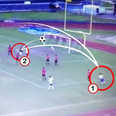 James Island boys soccer team executes double bicycle kick goal