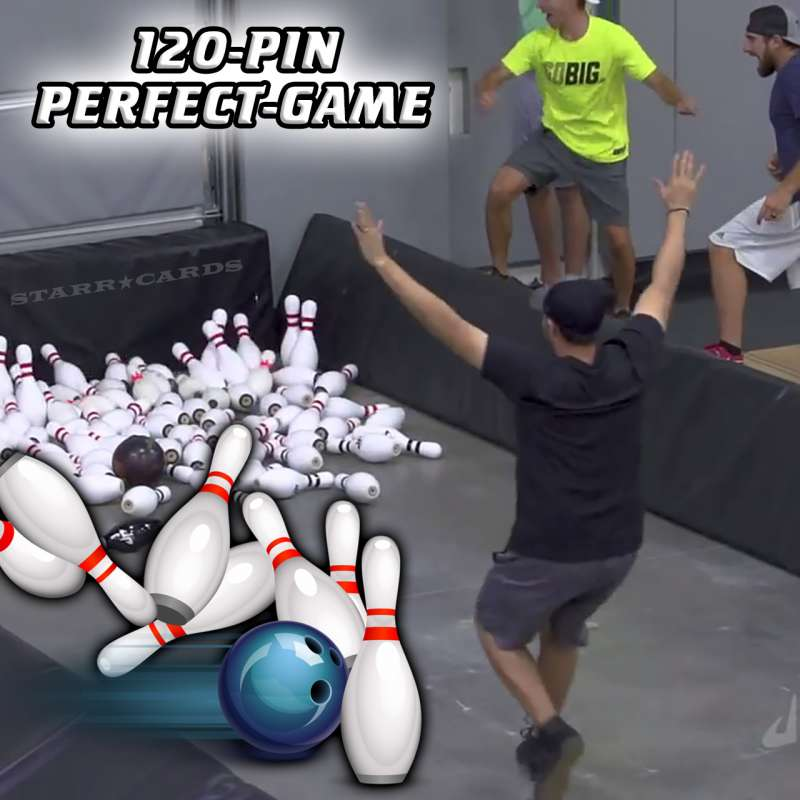 Jason Belmonte bowls a 120-pin perfect game with just one ball