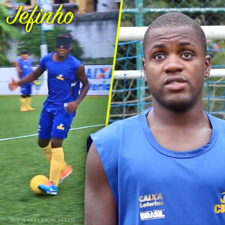 Jefinho, the Paralympic Pelé, leads Brazil's blind soccer team