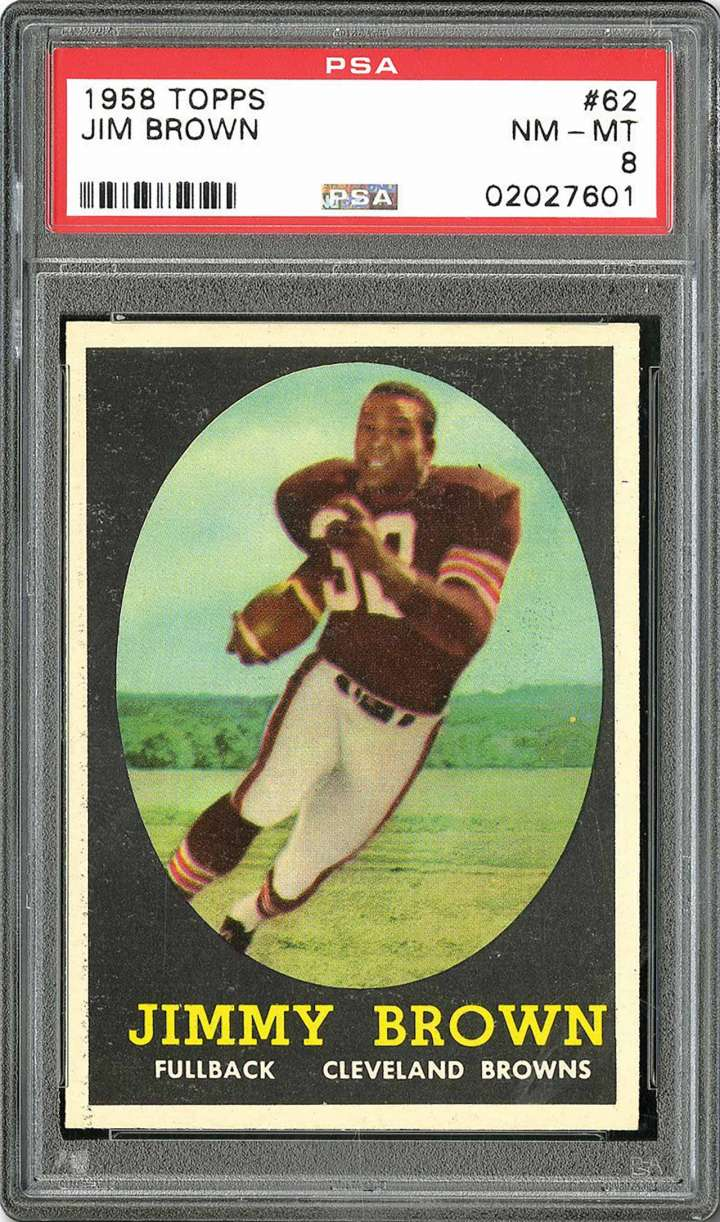 Jim Brown, 1958 Topps rookie football card
