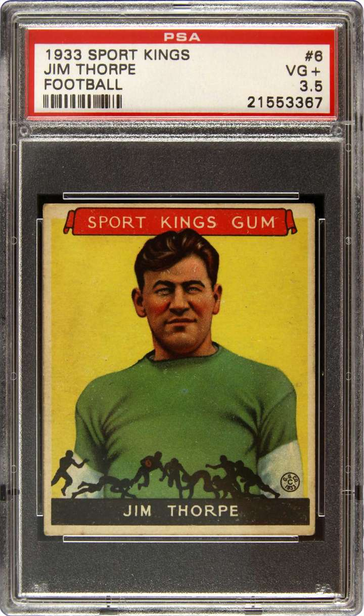 Jim Thorpe, 1933 Sports Kings football card