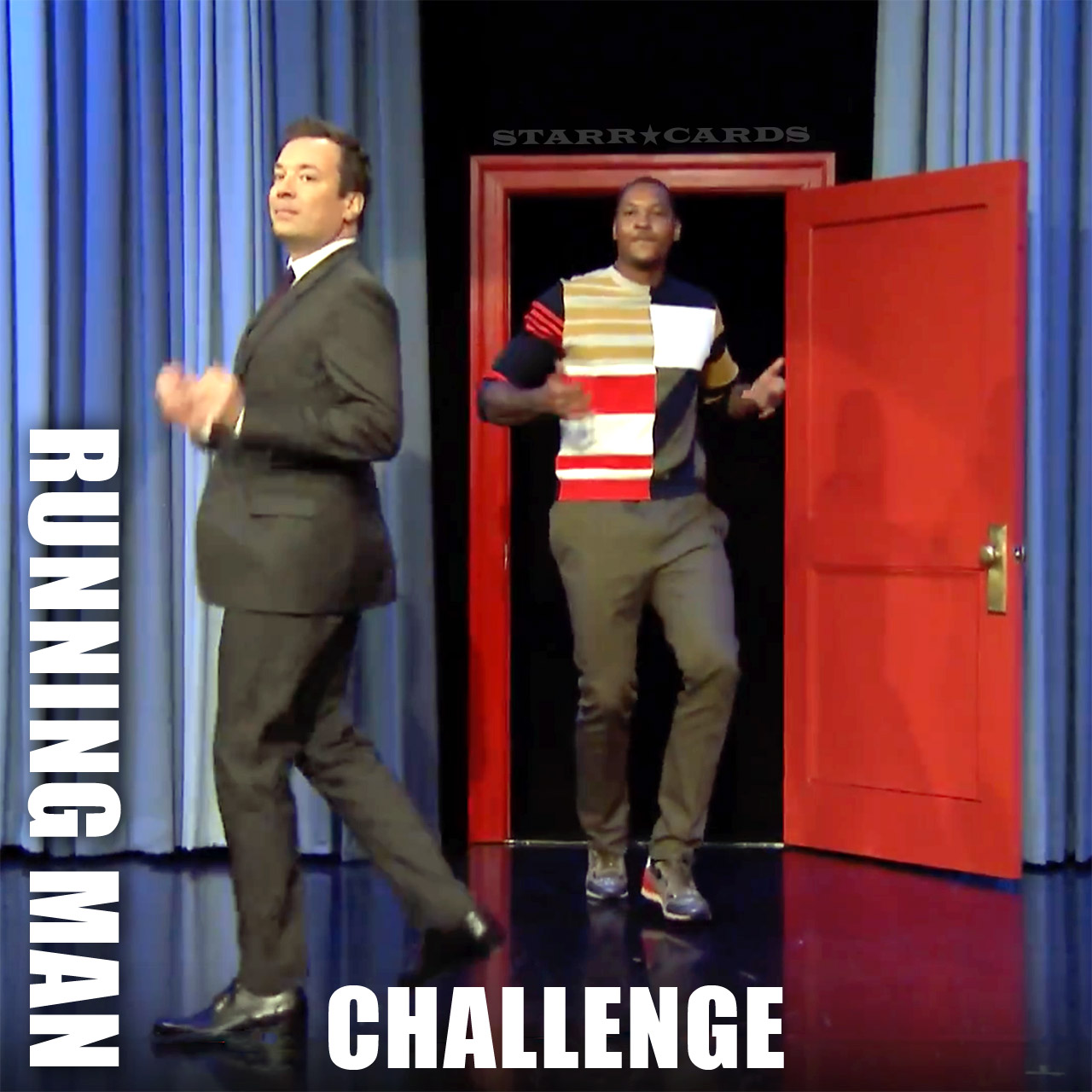 Jimmy Fallon and Carmelo Anthony take the Running Man Challenge