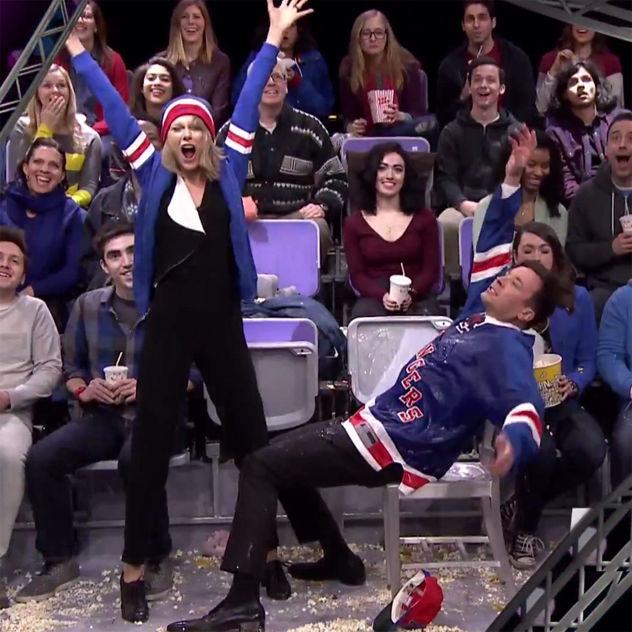 Jimmy Fallon and Taylor Swift are NYC fan-cam dancers