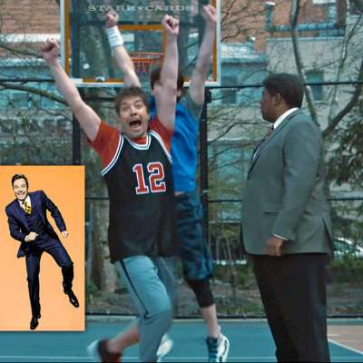 Jimmy Fallon plays basketball in triumphant SNL return