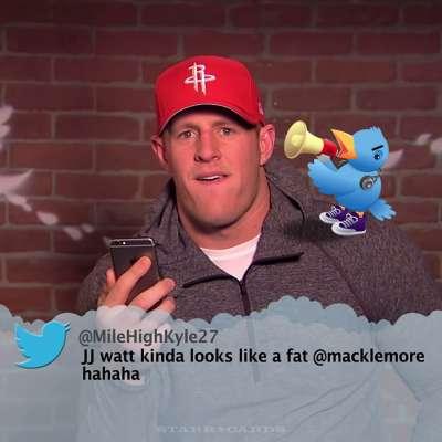 Jimmy Kimmel's NFL Mean Tweets starring J.J. Watt and fellow football stars