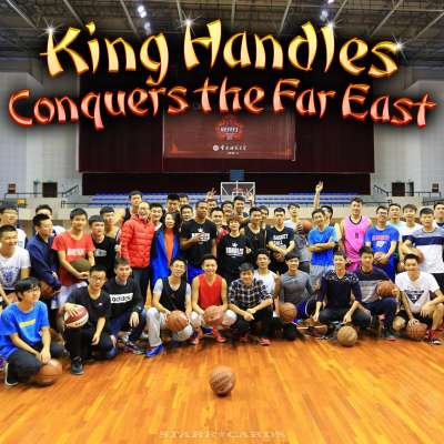 "Joey Haywood aka ""King Handles"" teaches skills at basketball clinics in Japan and China"
