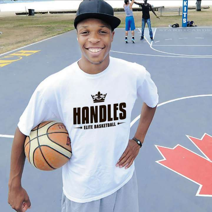 """Joey Haywood is better known as """"King Handles"""" to Canadian streetballers"""