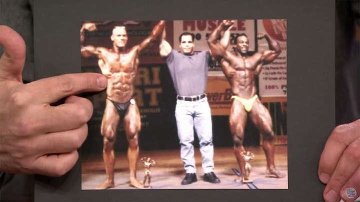 John Cena bodybuilder picture shown on 'The Tonight Show With Jimmy Fallon'