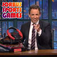 Jorbus video game system sports titles featured on 'Late Night with Seth Meyers'
