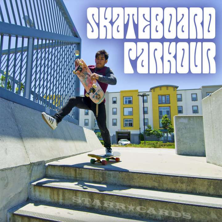 Jose Angeles tries skateboard parkour in San Francisco