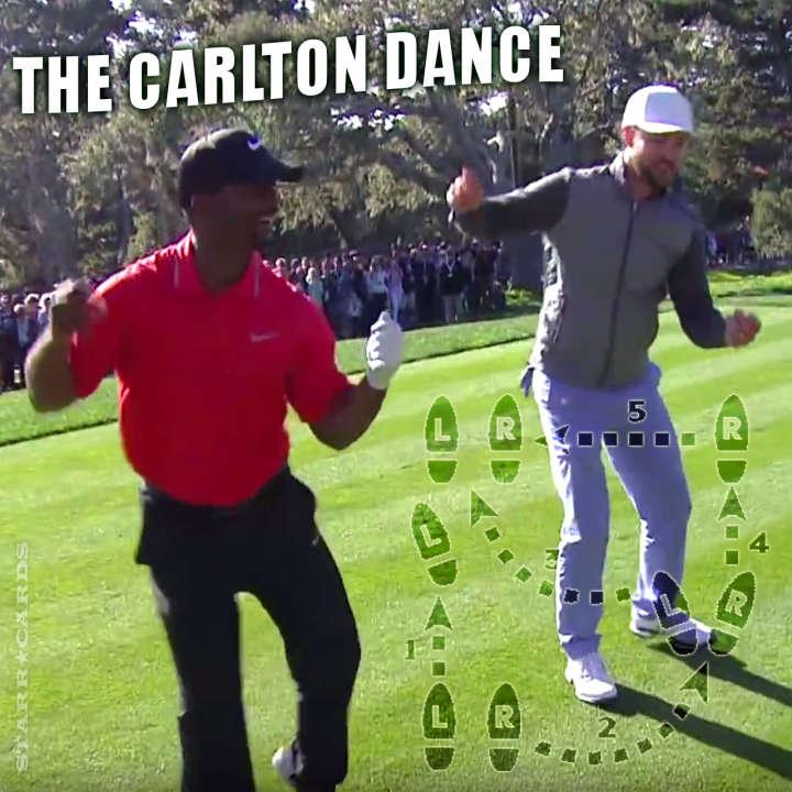 """Justin Timberlake and Alfonso Ribeiro perform """"The Carlton"""" dance at Pebble Beach"""