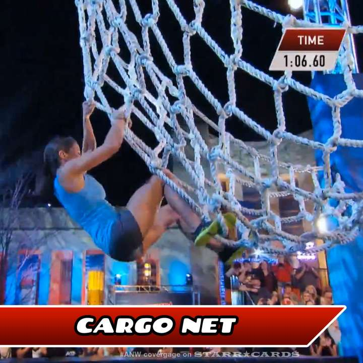 Kacy Catanzaro takes on the Cargo Net on American Ninja Warrior.