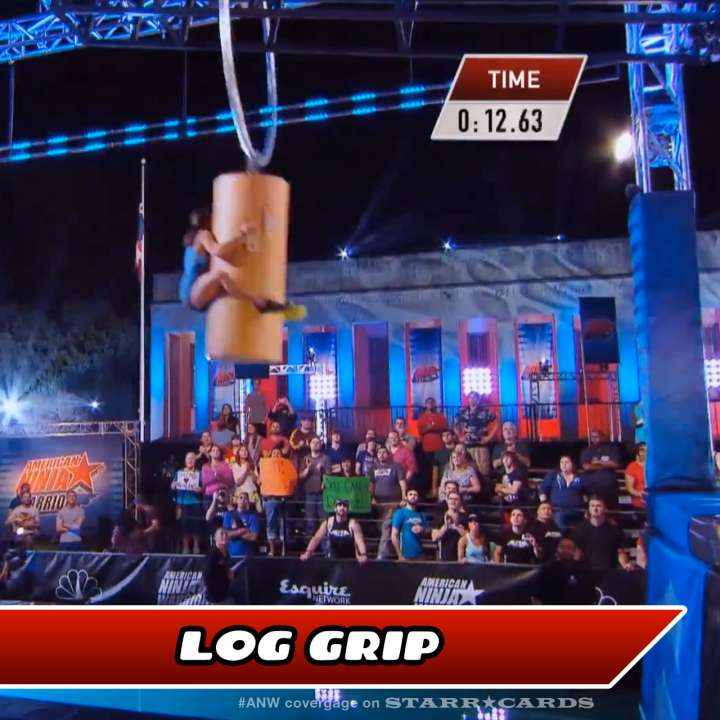 Kacy Catanzaro takes on the Log Grip on American Ninja Warrior.