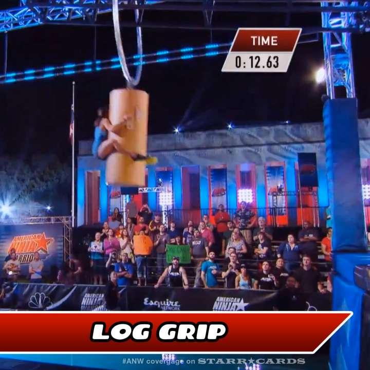 Kacy Catanzaro takes on the Log Grip on American Ninja Warrior.