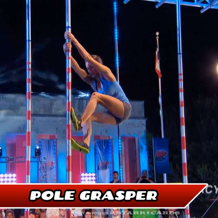 Kacy Catanzaro takes on the Pole Grasper on American Ninja Warrior.