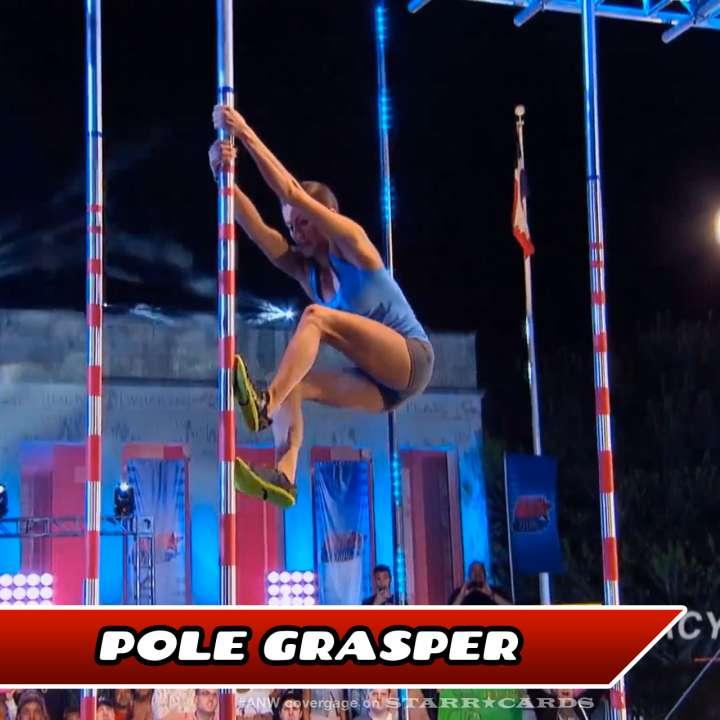 Kacy Catanzaro takes on the Pole Grasper on American Ninja Warrior.
