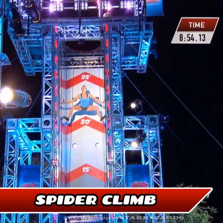 Kacy Catanzaro takes on the Spider Climb on American Ninja Warrior.