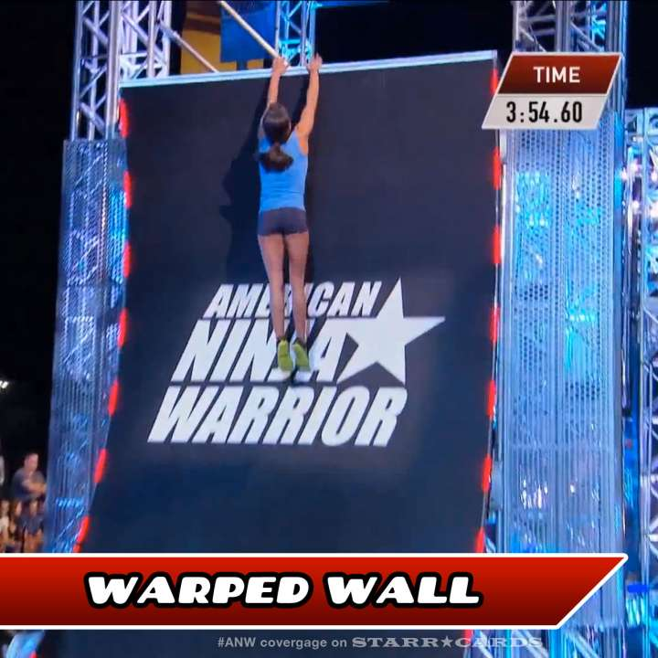 Kacy Catanzaro takes on the Warped Wall on American Ninja Warrior.