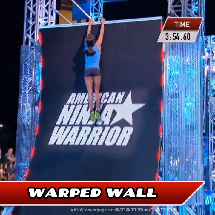 Kacy Catanzaro takes on the Warped Wall on American Ninja Warrior.