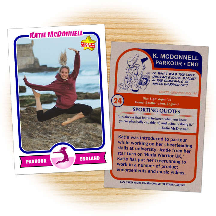 Katie McDonnnell freerunner fan card