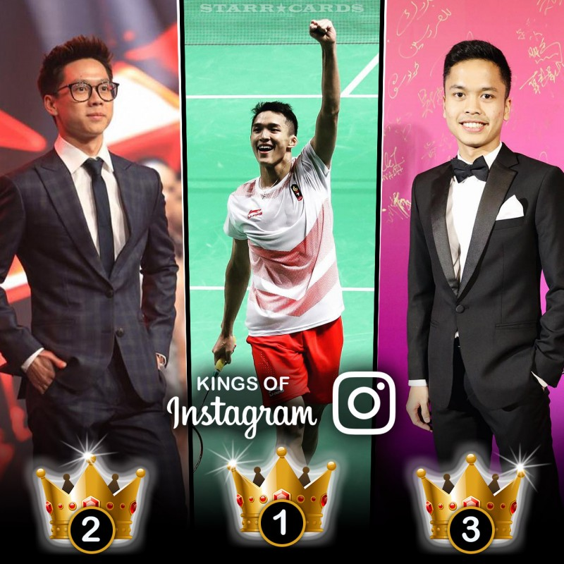 Kings of Badminton: Jonatan Christie, Kevin Sanjaya, Anthony Sinisuka Ginting tops in Instagram followers