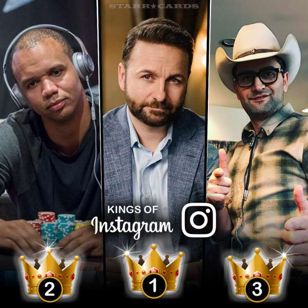 Kings of Instagram: Daniel Negreanu, Phil Ivey, Antonio Esfandiari tops in followers among poker players