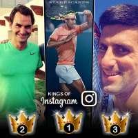 Kings of Instagram: Novak Djokovic, Roger Federer, Rafael Nadal tops in followers among men's tennis stars