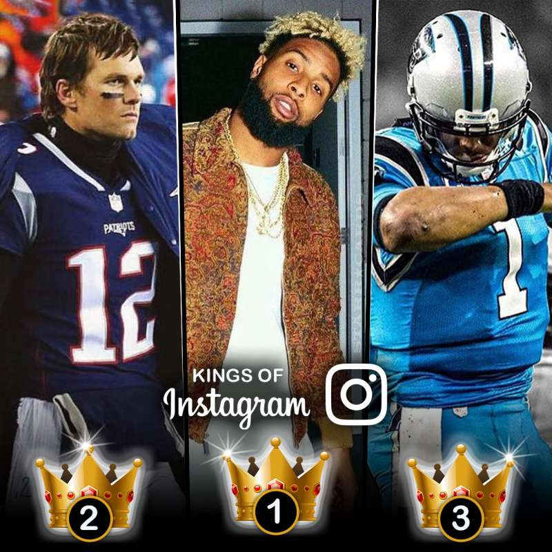 Kings of Instagram: Odell Beckham Jr, Tom Brady, Cam Newton have most followers among NFL stars