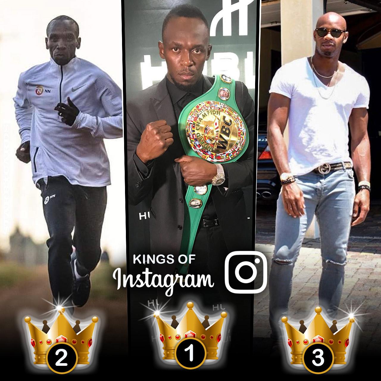 Kings Of Instagram Usain Bolt Eliud Kipchoge Asafa Powell Top