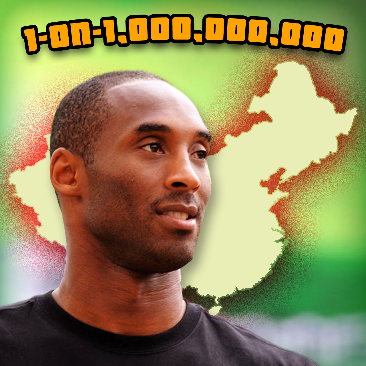 Kobe Bryant in China takes on all comers in an endless one-on-one game