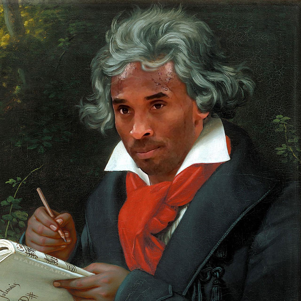 "Kobe van Beethoven learns how to play ""Moonlight Sonata"""