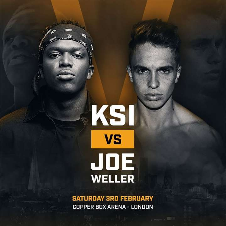 KSI vs Joe Weller boxing poster