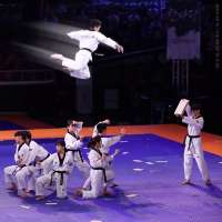 Kukkiwon Taekwondo Demonstration Team shows off high-flying punches and kicks